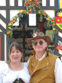 Carla and husband at Bristol Renaissance Faire