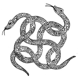 Intertwined snakes